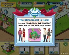 Sims Promo PopUp