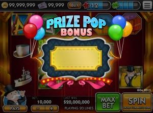 Prize Pop Bonus Game